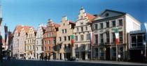 Treppengiebelhäuser am Rathausplatz in Osnabrück