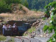 Rückfahrt mit derFeldbahn am Piesberg durch den Canyon, www.osnabrueck-fuehrungen.de
