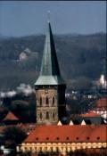 Blick auf die Katharienkirche, das Schloss und den Piesberg noch ohne Windräder