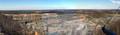 Von der Aussichtsplattform gesehen, ein Teil des Piesberg Steinbruchs, www.osnabrueck-fuehrungen.de